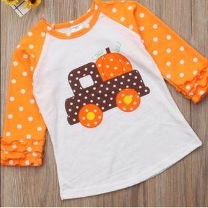 Other - Pumpkin Truck Fall Ruffle Baseball T Shirt